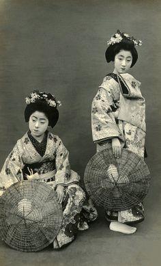 Geiko Tokiko and Friend 1920s