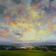 "Valley Sunset by craig mooney Oil ~ 48"" x 48"""