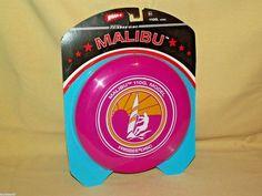 Frisbee New Malibu 100G Model Pink Yellow Wham-O Sealed 2005 Original Disc Surf…