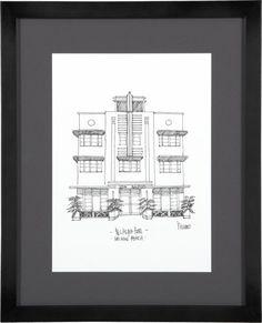 Office: Cityscape Miami Print  | Crate and Barrel