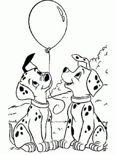 DISNEY COLORING PAGES: 101 DALMATIANS COLORING PAGE AND DOT TO DOT