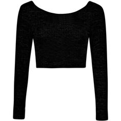 Boohoo Gaby Tie Back Crop Jumper (€13) ❤ liked on Polyvore featuring tops, shirts, crop tops, black, long sleeves, sleeve shirt, long sleeve shirts, long-sleeve crop tops, longline shirt and long line shirt
