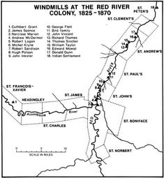 Manitoba History: Flour Milling at Red River: Wind, Water and Steam Flour Mill, Canadian History, Red River, Canada, Milling, Social Studies, Genealogy, Roots, Maps