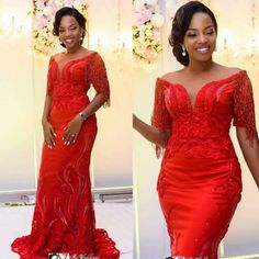 Wedding Inspiration- Stun In These Stunning Second Dresses African Lace Styles, African Lace Dresses, Latest African Fashion Dresses, African Dresses For Women, African Women, African Blouses, African Wedding Attire, African Attire, African Wear