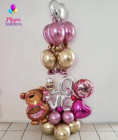 💖💝One of our best seller bouquet💝💗🎈. Birthday Balloon Decorations, Diy Party Decorations, Birthday Balloons, Mothers Day Balloons, Valentines Balloons, Balloon Bouquet, Balloon Garland, Halloween Window Clings, Diy Halloween Home Decor