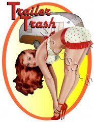 Retro Trailer Trash Pinup Girls Decal S580