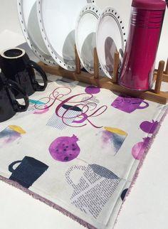 Modern Dish Drying Mat Coffee Pot Mat by MakingSomethingHappy Coffee Cups, Coffee Maker, Dish Drying Mat, Dorm Ideas, Kitchen Towels, Aqua, Unique Jewelry, Purple, Handmade Gifts