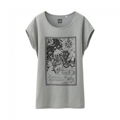 Uniqlo x Moomin French Sleeve T-Shirt - Compass (Gray)