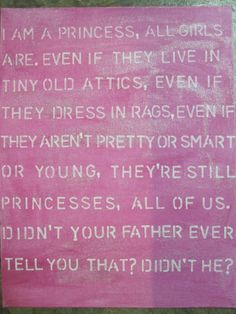 Pink Princess Quote Sign by kacimari on Etsy, $30.00
