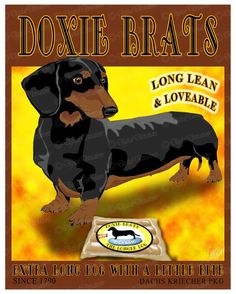 Dachshund Print  Doxie Brats 11X14 Comical by DigitalDeviations, $55.00