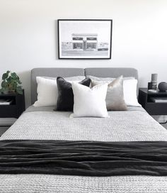 As a place to start your day, relax for the weekend, recharge your body and soul, creating a beautiful bedroom is on anyone's wishlist. Get inspired by our Todd Storage Bed by clicking on the link. Small Room Bedroom, Bedroom Decor, Bedroom Inspo, Bedroom Ideas, Master Bedroom, Grey Bedroom Design, King Size Bed Frame, Upholstered Bed Frame, Bed Frame Design