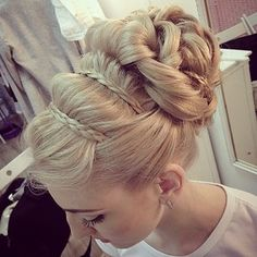 Updo with braided headband