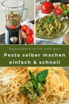 Dieser Pin enthält: Pesto ist als Sauce für Pasta in der Familienküche sehr beliebt. Wir haben eine besonders milde und kindergerechte Variante direkt aus Sizilien ausprobiert, die einfach und schnell gelingt und Kindern besonders gut schmeckt. Spaghetti Al Pesto, Broccoli, Pesto Genovese, Pasta Sauce, Seaweed Salad, Ethnic Recipes, Food, Happy, Italian Kitchens