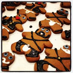 Our (non)traditional gingerbread men. We're fairly certain this lands us on Santa's naughty list.