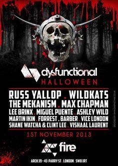 Dysfunctional Halloween | Fire | London | https://beatguide.me/london/event/fire-dysfunctional-halloween-fancy-dress-party-20131101/poster/