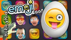 World's Biggest Emoji Surprise Egg! Shark Attack + TOYS Candy Family Fun...