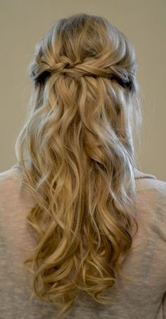 44 Trendy Wedding Hairstyles Front View Half Up Hair Makeup 2015 Hairstyles, Hairstyles With Bangs, Pretty Hairstyles, Hairstyle Ideas, Bangs Updo, Wavy Bangs, Hairstyles Pictures, Braided Hairstyles, Long Haircuts