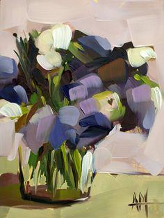 """Saatchi Art Artist Angela Moulton; Painting, """"Purple Lisianthus"""" #art"""