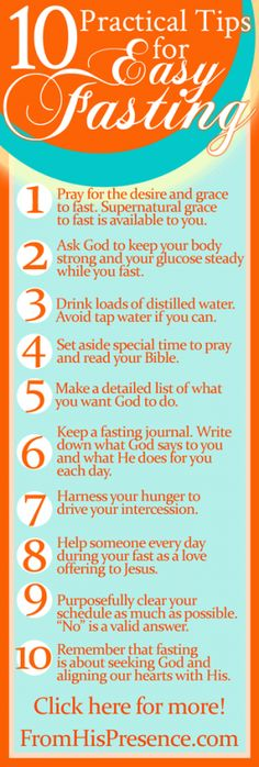 10 practical tips for easy fasting   by Jamie Rohrbaugh