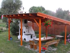 Outdoor Oven, Outdoor Cooking, Outside Fire Pits, Barbecue Area, Pergola, Cottage, Backyard, Exterior, Outdoor Structures
