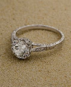 Estate Diamond Vintage Wedding Engagement Ring- - literally my idea of a perfect engagement ring. I love the vintage style - -Savv