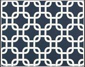 1 yard Navy Blue /  White Gotcha  -  Blue Twill Gotcha by Premier Prints - Chain link - Home Decor. $10.00, via Etsy.
