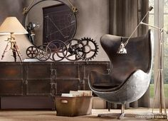 Heavy metal decor - loving the chair