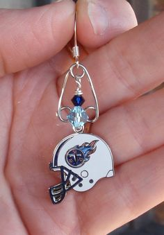 Tennessee Titan Inspired Pride earrings Titans Gear, Tn Titans, Tennessee Titans, Titans Football, Football Baby, Football Team, Baseball, Bead Crafts, Jewelry Crafts