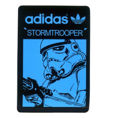 #1642 Stormtrooper Star Wars adidas Originals, Height 7 cm decal sticker…