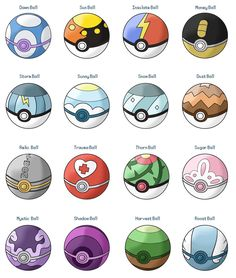 Pokeballs And Their Names All Poke Balls Labeled By Seancantrell