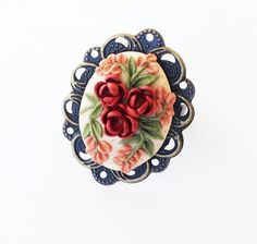 Cocktail Ring Victorian Garden Ring by PiperPixieDesigns on Etsy