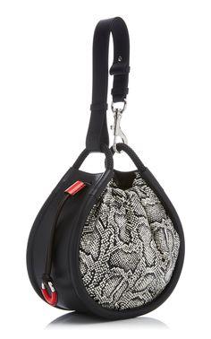 Canteen Snake-Effect Leather Top Handle Bag by Proenza Schou.- Canteen Snake-Effect Leather Top Handle Bag by Proenza Schouler Leather Bags Handmade, Handmade Bags, Leather Purses, Leather Handbags, Coach Leather Bag, Bag Sewing, Leather Drawstring Bags, Diy Sac, Denim Bag
