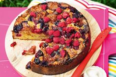 Almond And Summer Fruit Picnic Cake Recipe - Taste.com.au