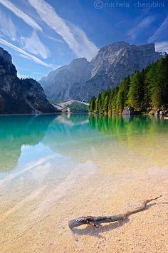 Lago di Braies, Bolzano. Trentino-Alto Adige, Italy