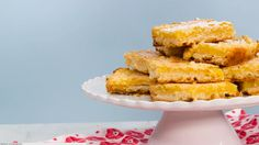 Luscious Lemon Bars: Classic Lemon Bars are always a popular dessert at teas, luncheons, and showers. As an added bonus, you can make them ahead and freeze for up to one month.