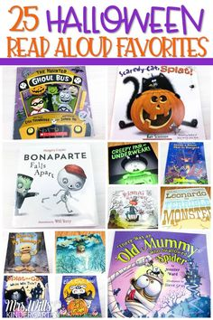 Halloween Read Alouds for kindergarten, first, and second grade. These are some of my favorite books to read during the month of October in celebration of Halloween! Halloween Books, Halloween Activities, Fall Halloween, Halloween Crafts, Will Terry, Best Toddler Books, Kindergarten Reading, Kindergarten Units, Read Aloud Books