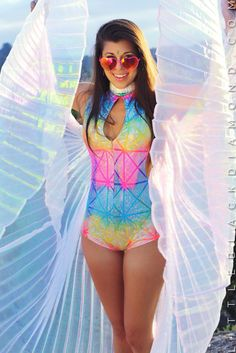 Nothing can be truer than fairy wisdom. It is as true as sunbeams and their magic sparkles in nature. These isis wings are made with iridescent pleated fabric and come with two lightweight metal rods
