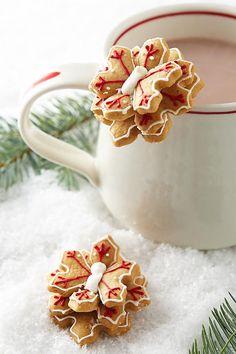Snowflake Sugar and Spice Biscuit Cookie Toppers Anthropologie Mug Buddy #MugBuddyCookies