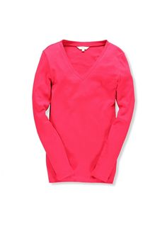 Mix Apparel - Collection - Long Sleeve V-Neck Rib