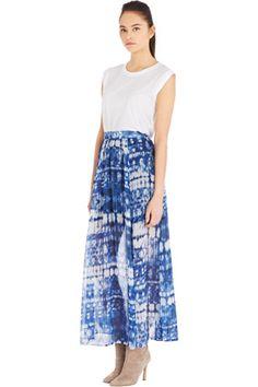 Warehouse Tie-Dye Print Maxi Skirt
