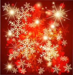 Ornate Red Christmas Backgrounds vector 05 | Vector background
