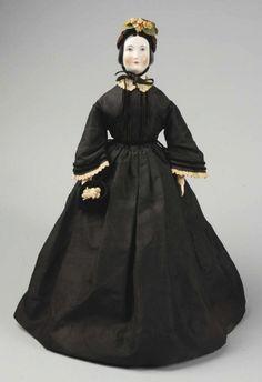 314: Emma Clear China Head Lady Doll. : Lot 314