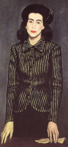 Portrait of Maria Rousen, 1943 by Yiannis Moralis (Greek Woman Painting, Figure Painting, Greece Painting, Mediterranean Art, Hellenistic Period, 10 Picture, Greek Art, Portraits, Classical Art