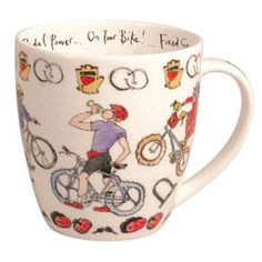 Madeleine Floyd 'Cycling' Rio Shaped Mug Capacity Best Gifts For Him, Perfect Gift For Him, Gifts In A Mug, Quirky Gifts, Unique Gifts, Presents For Men, Experience Gifts, Gadget Gifts, Present Gift