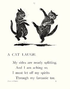 *A Cat Laugh* Louis Wain ( thru his fantastic toe) LOL Crazy Cat Lady, Crazy Cats, I Love Cats, Cool Cats, Louis Wain Cats, Black Cat Art, Black Cats, Here Kitty Kitty, Kitty Cats