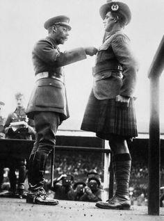 Investiture of George Imlach McIntosh VC, 1/6th Battalion, Gordon Highlanders