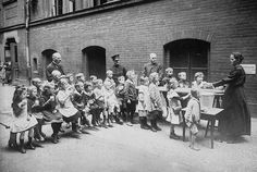 Children in Berlin are fed by members of the Salvation Army. The Allies,  still wary of postwar Germany, chose to continue the wartime naval blockade   until  the German government ratified the Treaty of Versailles in July 1919.  Unfortunately  this prevented  urgently needed food supplies from reaching Germany, Austria and  hard-pressed areas of Eastern Europe. As a result, children starved to death--and  those who watched them starve would never forgive the Allies.