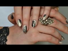 Nail art: easy Lace - YouTube