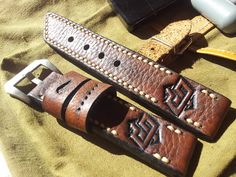 .: Ammo Swiss Straps Army Watches, Leather Watch Bands, Belt, Zeppelin, Accessories, Craft, Bracelet, Clocks, Belts