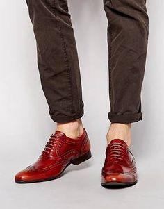 Chaussures richelieu en cuir verni Marron -Base London - Cane